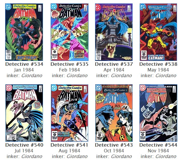 Batman and Detective Comics Covers by the late Gene Colan (DC Comics)
