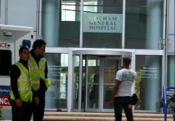 Gotham General Hospital, The Dark Knight Rises location shoot at Delta Point, Croyden