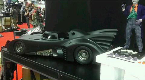 Batman at ComicCon The 1989 Anton Furst Batmobile from Hot Toys