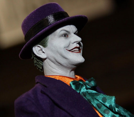 Batman at Comic Con Hot Toys Batman 89 Collection Jack Nicholson as Joker
