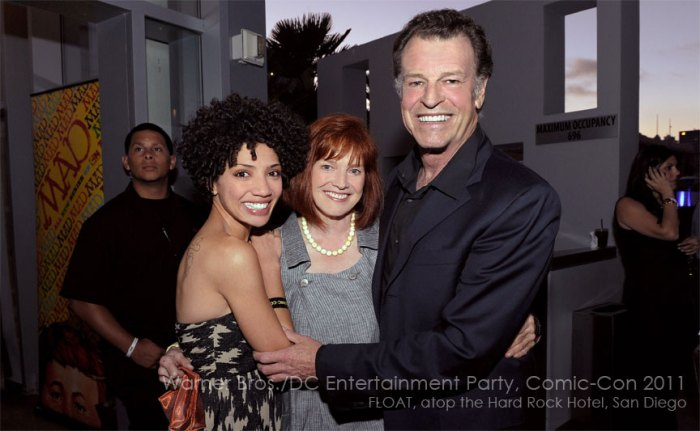 Warner Bros./DC Entertainment Comic-Con 2011: FRINGE stars Jasika Nicole (left), Blair Brown (center) and John Noble (right)