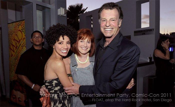 Warner Bros./DC Entertainment Comic-Con 2011: FRINGE stars Jasika Nicole (left), Blair Brown (center) and John Noble (right)