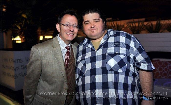 Comic Con 2011 Warner Bros DC Entertainment Lost stars Michael Emerson Jorge Garcia