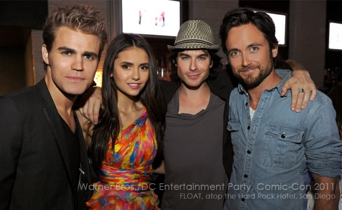 Comic Con 2011 The Vampire Diaries stars turn out for Warner Bros and DC Entertainment