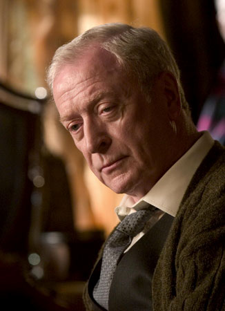 Michael Caine is Alfred Pennyworth in The Dark Knight Rises
