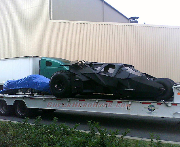 The Dark Knight Rises Batmobile arriving in Pittsburgh for location shooting