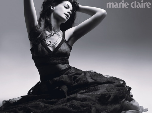 Anne Hathaway is Catwoman/Selina Kyle in The Dark Knight Rises, sexier than ever in this Feature Article in Marie Claire