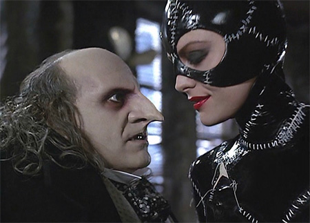 Batman Returns: Catwoman (Michelle Pfeifer) and The Penguin (Danny Devito)