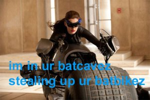 The Dark Knight Rises Anne Hathaway as Catwoman Viral Image