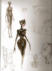 original-conceptual-artwork-catwoman-costume-tim-burton-museum-exhibitions
