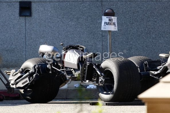 The Dark Knight Rises Batpod Parked on Location in Pittsburgh