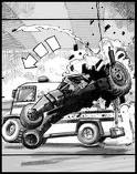 Storyboard Concept Art from Christopher Nolan's The Dark Knight: Batmobile/Tumbler Chase