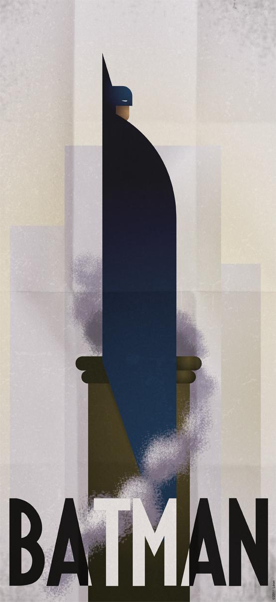 batman artwork deco cubo futurism machinist. Black Bedroom Furniture Sets. Home Design Ideas