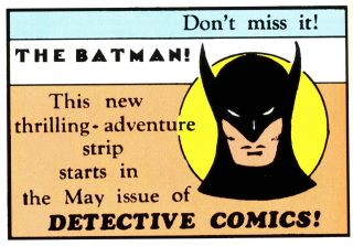 First Batman image in print: Action Comics #12, May 1939
