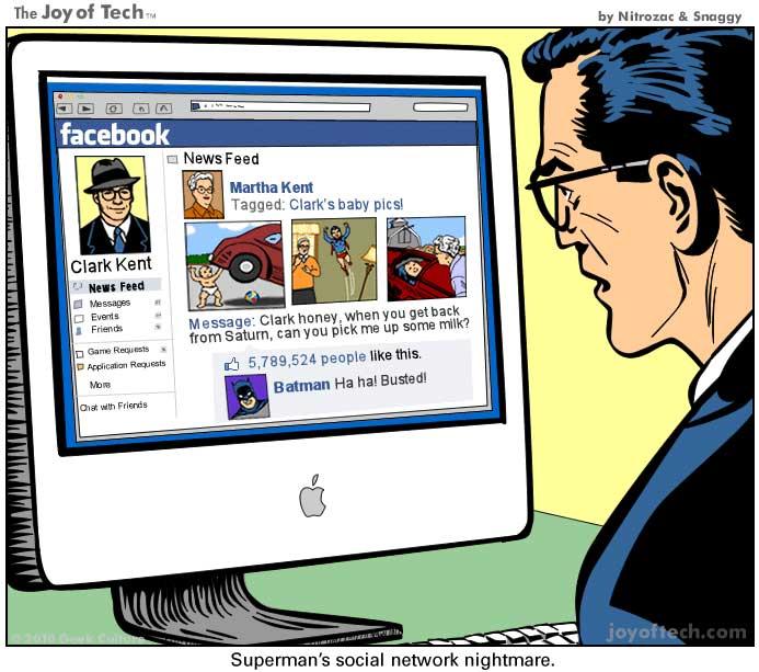 Superman's Social Network Nightmare