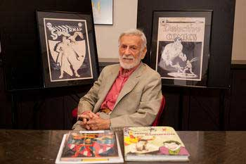 DC Comics icon and Joker creator Jerry Robinson Pictured with original covers and concept art