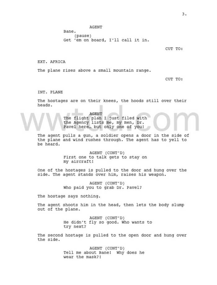 "The Dark Knight Rises script pages ""leaked"" so fans can know what the heck Bane was saying in the Prologue"