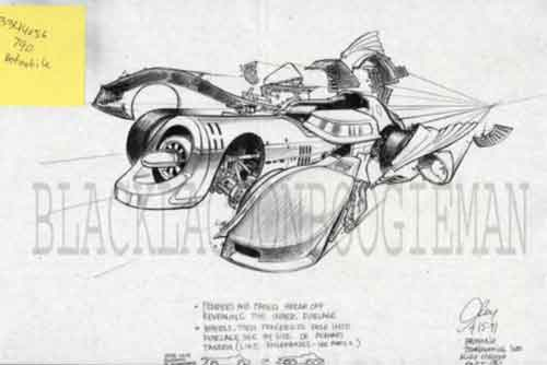 Batman Returns Original Production Art Batmobile